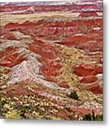 Chinde Point In Painted Desert In Petrified Forest National Park-arizona Metal Print