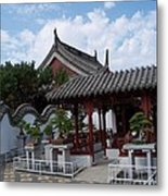 Chinese Bonsai Garden Metal Print