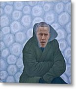 Chinese Citizen Barack Obama Is Waiting For Selling Chinese Cabbage Metal Print by Tu Guohong
