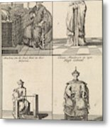Chinese Clergyman, Chinese Philosopher, Chinese Craftsman Metal Print