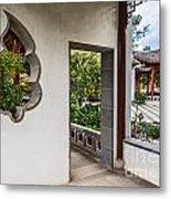 Chinese Courtyard Metal Print