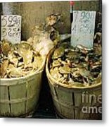 Chinese Crabs For Sale Metal Print