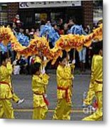 Chinese Dragon Dancers Metal Print