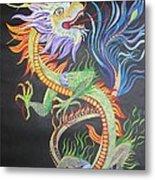Chinese Fire Dragon Metal Print