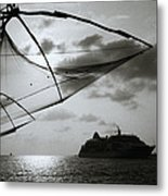 Approaching Cochin Metal Print