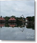 Chinese Fishing Net In Kerala Metal Print
