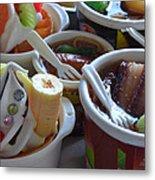 Chinese Food Miniatures 3 Metal Print