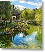 Chinese Garden Lake Metal Print