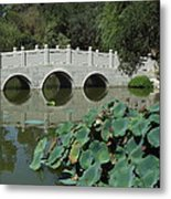 Chinese Garden Scene Metal Print