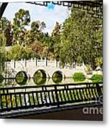 Chinese Garden Window Metal Print