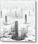 Chinese Grave Markers Metal Print