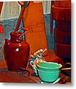 Chinese Kitchen Cookware Metal Print