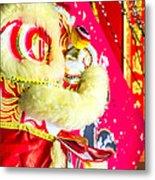 Chinese Lion Head Metal Print