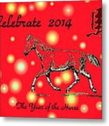 Chinese New Year 2014 Metal Print