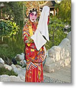 Chinese Opera Girl - In Full Traditional Chinese Opera Costumes. Metal Print