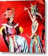 Chinese Opera Metal Print