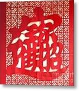 Chinese Ornamental Character Metal Print