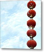 Chinese Red Lampion  Metal Print