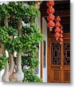 Chinese Red Lanterns Metal Print
