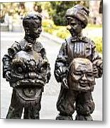 Chinese Statues Metal Print