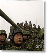 Chinese Tanker Soldiers Metal Print