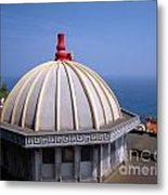 Chinese Temple Overlooking The Sea Metal Print