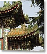 Chinese Temple Roofs Metal Print
