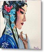Chinese Traditional Beauty Metal Print