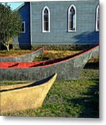 Chinook Canoes Metal Print