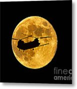 Chinook Moon Color Metal Print
