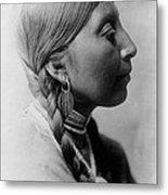 Chinookan Indian Woman Circa 1910 Metal Print