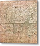 Chipped Veneer Metal Print