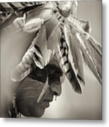 Chippewa Indian Dancer Metal Print by Dick Wood