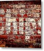 Chips Brick Wall Metal Print