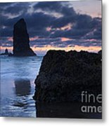 Chiseled By The Sea Metal Print