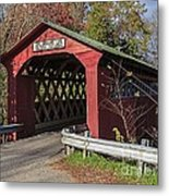 Chiselville Covered Bridge Metal Print by Edward Fielding