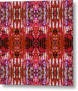 Chive Abstract Red Metal Print