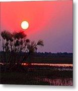Chobe River Sunset Metal Print