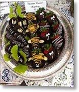 Chocolate Berries Metal Print