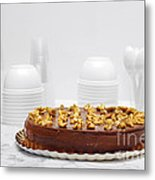 Chocolate Cake Metal Print