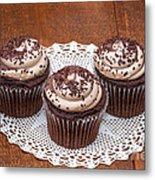 Chocolate Caramel Cupcakes Metal Print