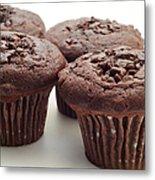 Chocolate Chocolate Chip Muffins - Bakery - Breakfast Metal Print