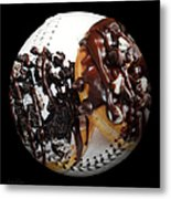 Chocolate Donuts Baseball Square Metal Print by Andee Design
