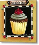 Chocolate Pecan Cupcake Metal Print
