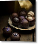Chocolate Pralines Metal Print