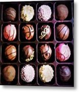 Chocolate Really Is Art Metal Print by Denisse Del Mar Guevara