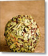 Chocolate Truffles Rolled In Thyme Metal Print