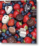 Chocolates And Strawberries Metal Print by Tim Gainey