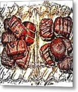 Chocolates - Illustration - Dish - Candy Metal Print
