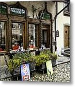 Chocolatier In Gruyeres Metal Print